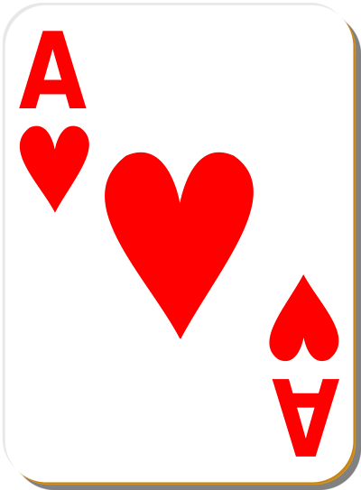 Illustration Of An Ace Of Hearts Playing Card Chris